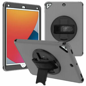 """For iPad 10.2"""" 8th 7th Generation 2020 Rotating Kickstand Strap Case Smart Cover"""