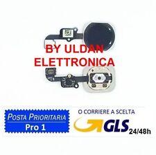 TASTO CENTRALE HOME Pulsante COMPLETO FLAT PER APPLE IPHONE 6S / 6S PLUS NERO