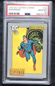 POP 1! 1992 DC Cosmic Cards Superman PSA 10 Rare Batman Marvel