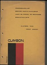 496501 : CLAYSON cosechadora trilladora de 1540 : manual piezas de recambio 1972