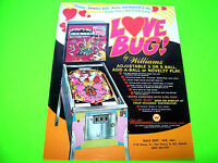 Williams LOVE BUG Original 1971 Flipper Game Pinball Machine Promo Sales Flyer