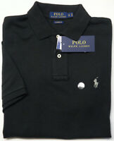 NWT $85 Polo Ralph Lauren Black Short Sleeve Shirt Mens Classic Fit Cotton Mesh