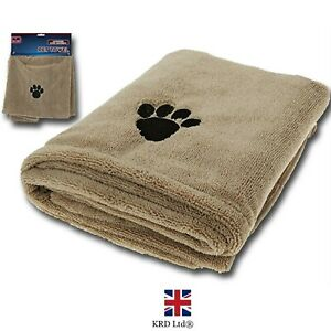 Microfibre Pet Towel Super Absorbent Large Dog Cat Cleaning Fast Drying P5004 UK