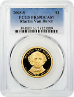 2008-S Martin Van Buren $1 Presidential Dollar PCGS PR69 DCAM