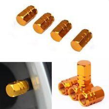 Gold Car Tire Valves Decorate Covers Aluminium Auto Accessories Trim 4PCS/SET