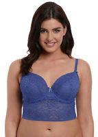 Freya Soiree Lace UW Longline Bra Denim Blue - 5014 - UK 30D New Lingerie   (k)