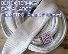 BENDA TERMICA SCARICO COLLETTORI ISOLANTE MARMITTE MOTO FIBRA 80mm