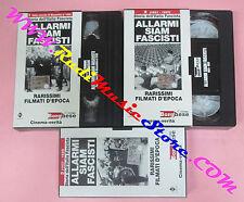 3 VHS film Storia dell'italia fascista ALLARMI SIAM FASCISTI (F87) no dvd