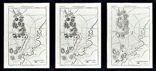 Harper's Civil War - 3 Maps - Battle of Chickamauga Georgia - Troop Positions