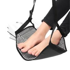Foot Hammock Flight Footrest Carry-on Durable Portable Rest Soft Knitted Cotton