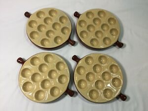 4 EMILE HENRY Escargot Made in France French Snail Baking Dishes #2512 Vintage