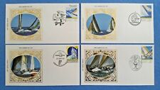 SET OF 4 BENHAM AMERICA CUP FIRST DAY COVERS - 28th January 1987 FREMANTLE
