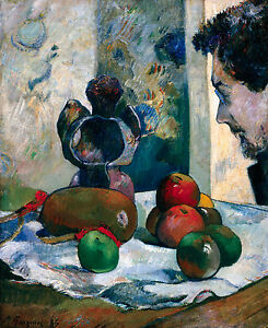 Paul Gauguin - Still Life with Profile of Laval, Museum Art Poster, Canvas Print