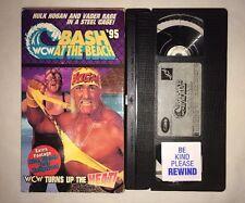 WCW Bash at the Beach '95 (VHS, 1995) NWO WWF WWE HULK HOGAN VADER RARE