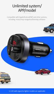 New USAMS C11 Dual USB 3.1 A Digital Display Wireless FM Transmitter Car Charger