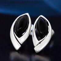 Onyx Silber 925 Ohrringe Damen Schmuck Sterlingsilber S531