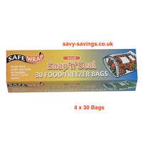 Safewrap  Snap N Seal Small  Food & Freezer Bags 4 x 30