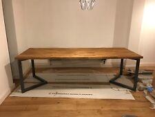 2x Bare Box 5x5cm Steel Furniture Table Legs. Industrial Chevron 96x71cm