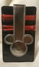 Disney Parks Mouse Icon Red Black Silver Metallic Wallet - NEW
