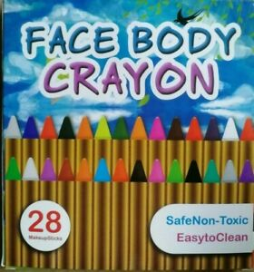 28 Colors Party Makeup Cosplay Face Paint Crayons Kit Non Toxic Smooth School UK