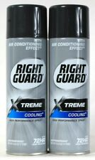 2 Cans Right Guard 6 Oz XTreme Cooling 72Hr Odor Protect Antiperspirant Spray