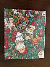 Vintage Christmas Santa Claus Snowman Fabric Covered Photo Album NEW