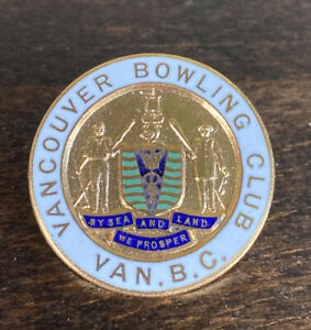 Vintage Vancouver Bowling Club British Columbia Canada Curling