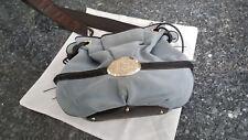 Sac à main Lancel Brigitte Bardot BB bleu cuir daim