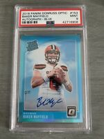 Baker Mayfield Rated Rookie Auto Blue /75 PSA 9