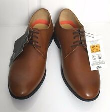 M&S Marks £59 New Mens Tan Leather Airflex Lace Up Smart Comfort Shoes BNWT Sz 6