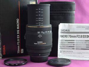 Sigma EX 70mm f2.8 DG Macro Prime SUPERB BOXED  NIKON  2167D