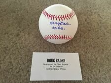 Doug Rader autographed baseball Tristar authenticated on a Rawlings
