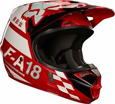 NEW 2018 Fox Racing Youth KIDS V1 Sayak MX Motocross Helmet Red Size Medium