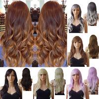 58cm Ladies Cosplay Full Wigs Long Straight Hair Wig Omber Black Brown Blonde B6