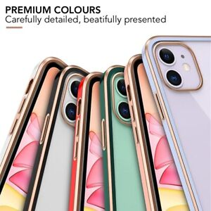 Luxury Clear Back Case For iPhone 11 XR 12 Pro Max Mini XS X Shockproof Cover