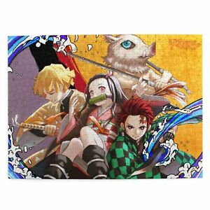 Demon Slayer DIY 300/500/1000 Piece Wood Jigsaw Puzzle for Adults Kids Game Gift