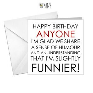 PERSONALISED Funny, rude, sarcastic,banter, Birthday Card for him/Best Friend