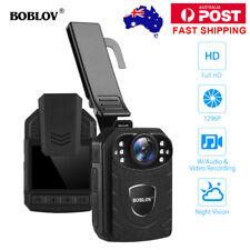 BOBLOV 1296P Body Worn Cameras Police Security Guard Audio Video Night Vision AU