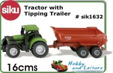 Siku Model: 1632 Tractor with Halfpipe Tipping Trailer 1632 1:87 approx Asst.