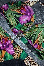 New Victoria's Secret Leopard Palm Halter Swimsuit Bikini Top & Bottoms 34 B Med
