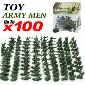 Military Plastic Toy Soldiers Army Men Figures 12 Poses Soldier Gift AZ