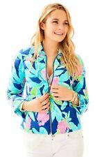 NWT Lilly Pulitzer Carolena Down Puffer Jacket Ikat Blue Island Exotic XS