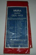 Vintage Flame Red Crepe Paper  - Flowers Christmas Valentine Crafts - 3m SEALED