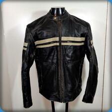 XELEMENT Cafe Racer Leather MOTORCYCLE Biker JACKET Mens Size M Black