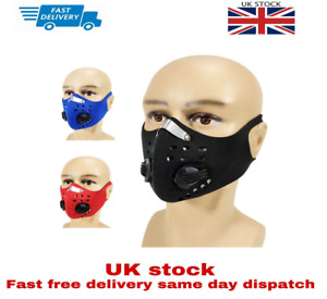 Safety Filtered Face Shield Sports Training Smog Running Dust Filter Cycling