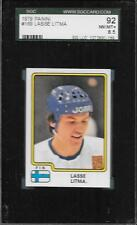 1979 PANINI HOCKEY STICKER CARD FINLAND LASSE LITMA #169 SGC GRADED 8.5 NM-MT+