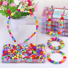 400PCS/Box Kids Crafts Jewelry Set Beads Kit Necklace Jewelry Bracelet DIY Kits