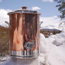 "8 Gallon Copper Boiler with 2"" Lid"
