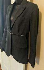 Pea In The Pod Maternity Suit 2 piece Business Gray Belted Jacket Pants Empire