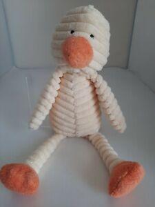 "JellyCat  Cordy Roy Duck  Soft Toy Plush Comforter 12"" Jelly Cat"
